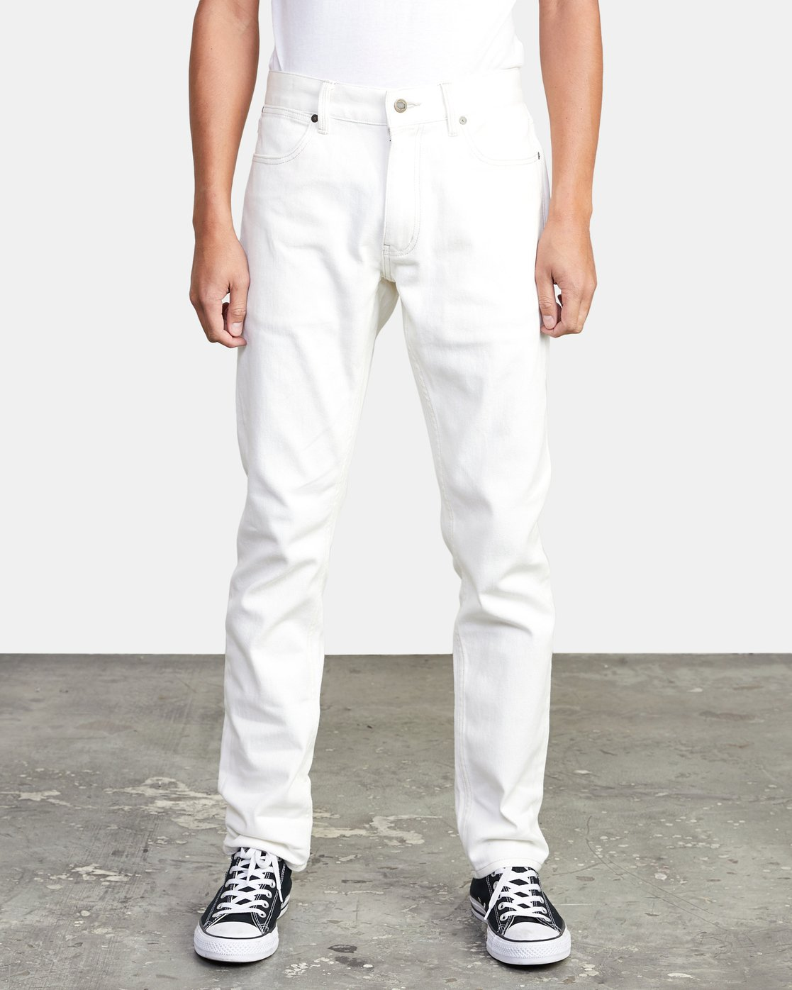 0 Daggers - Slim Fit Jeans for Men White U1PNRQRVF0 RVCA