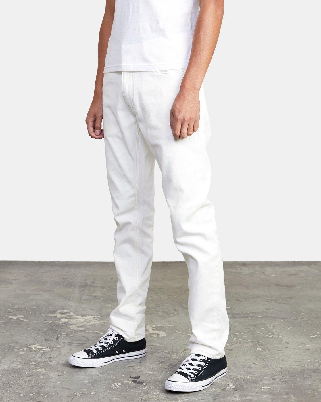 1 Daggers - Slim Fit Jeans for Men White U1PNRQRVF0 RVCA