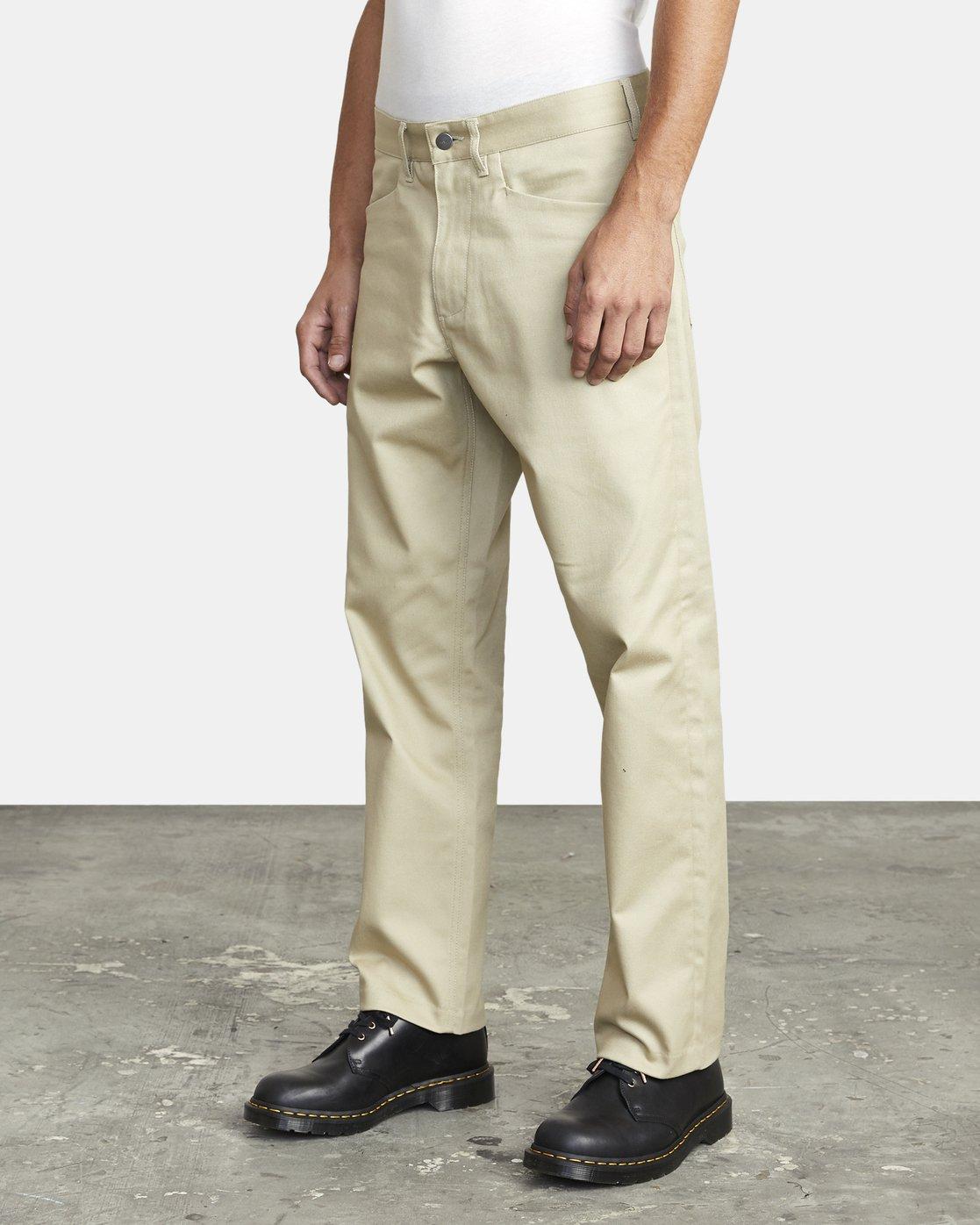 4 New Dawn Pressed - Trousers for Men Green U1PTRHRVF0 RVCA