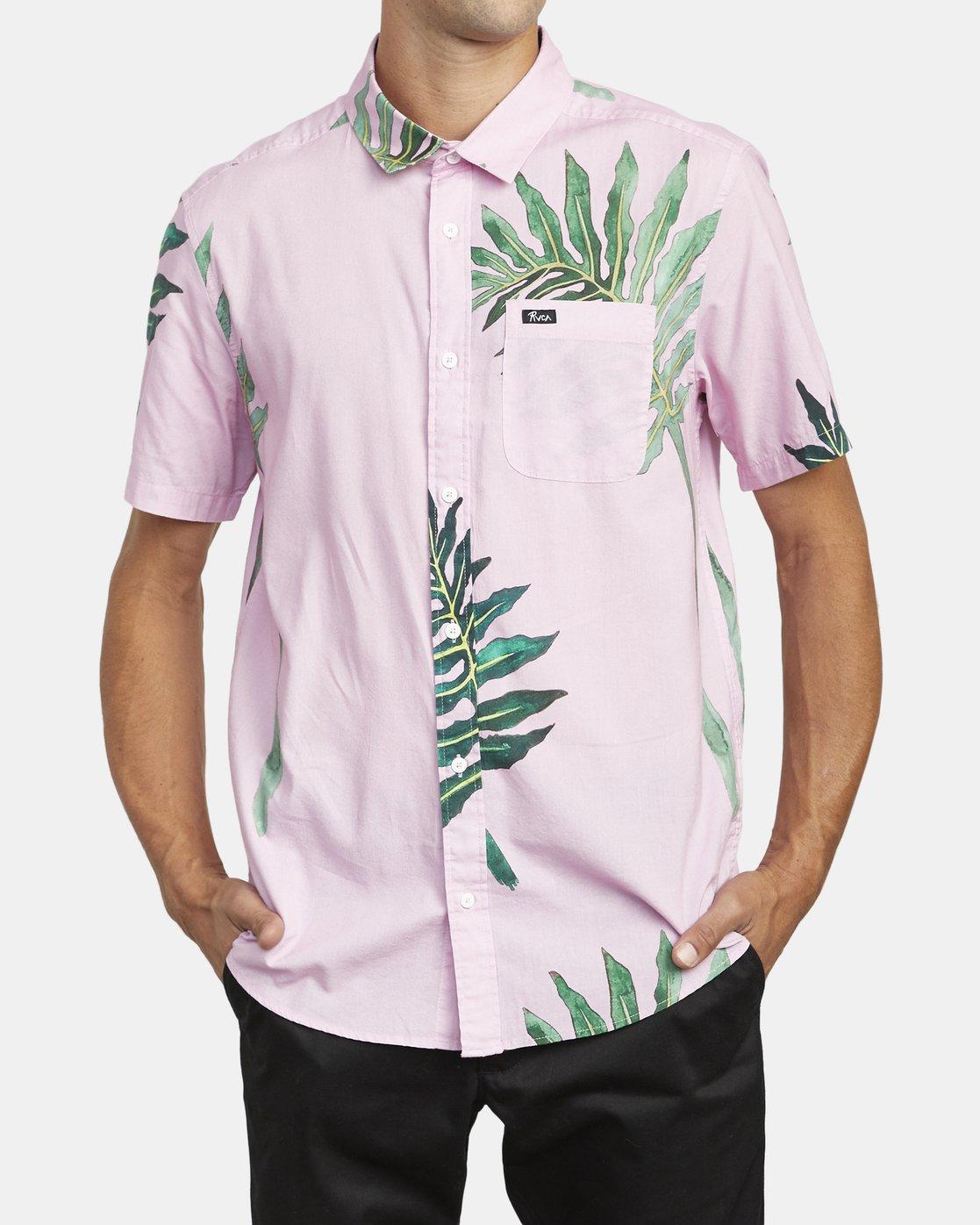 2 Stacey Rozich - Short Sleeve Shirt for Men Pink U1SHRARVF0 RVCA