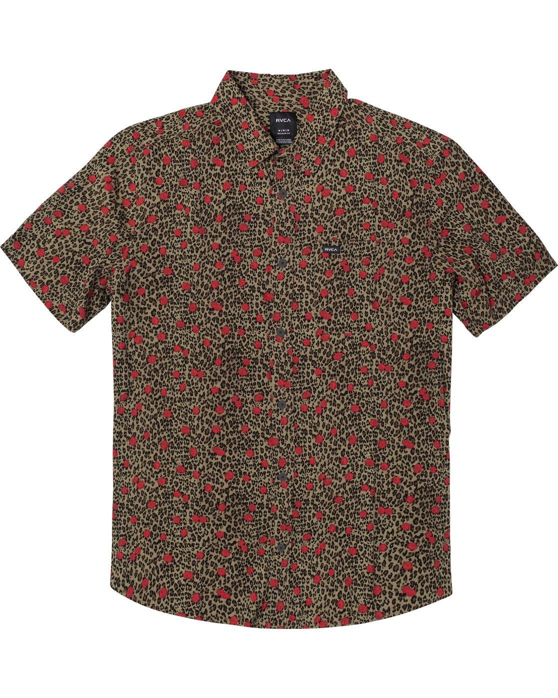 0 Jungle Fuzz - Short Sleeve Shirt for Men Green U1SHRCRVF0 RVCA