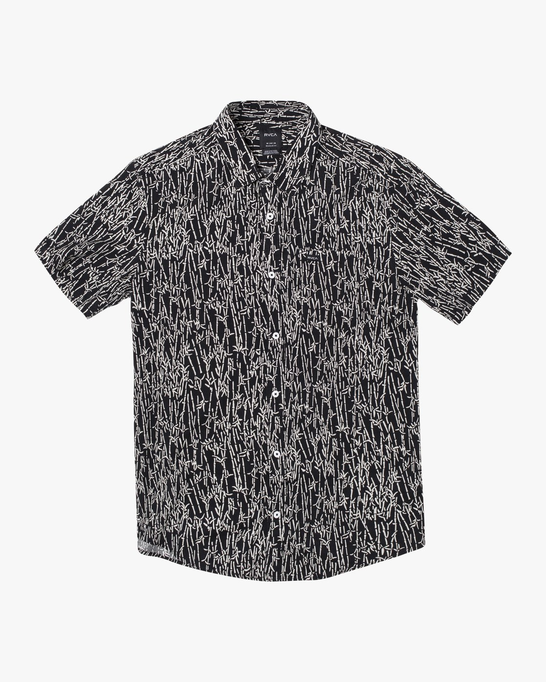 0 Jungle Fuzz - Short Sleeve Shirt for Men Black U1SHRCRVF0 RVCA