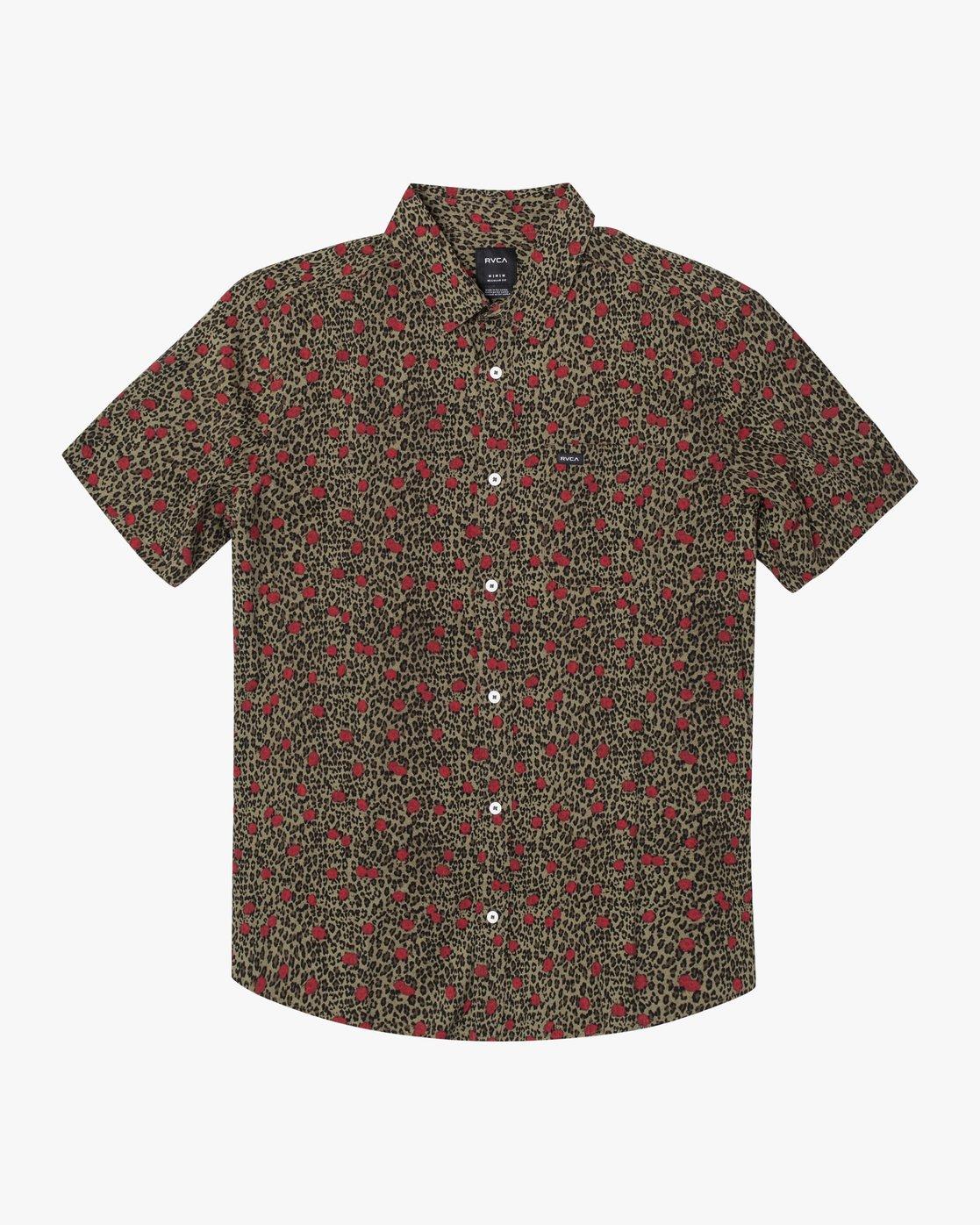 1 Jungle Fuzz - Short Sleeve Shirt for Men Green U1SHRCRVF0 RVCA