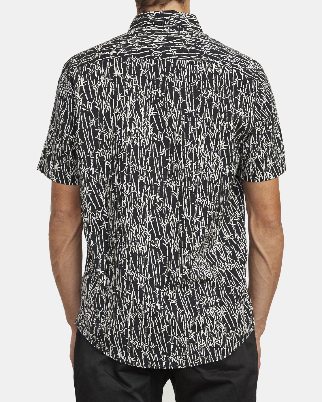 3 Jungle Fuzz - Short Sleeve Shirt for Men Black U1SHRCRVF0 RVCA