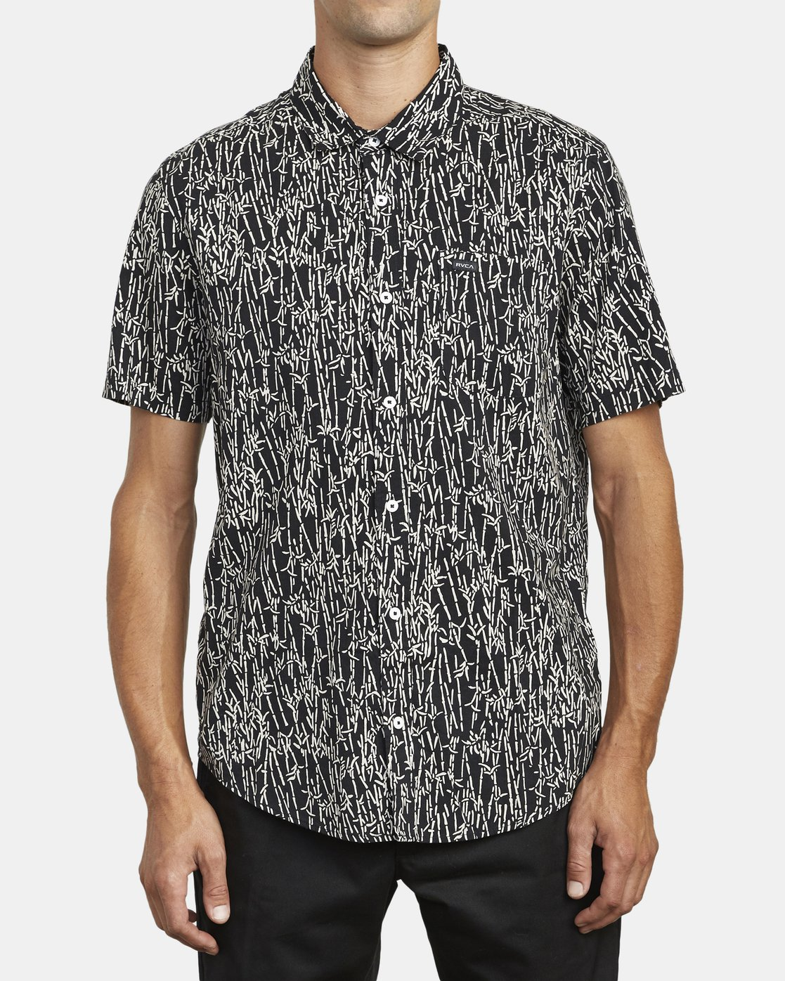 2 Jungle Fuzz - Short Sleeve Shirt for Men Black U1SHRCRVF0 RVCA