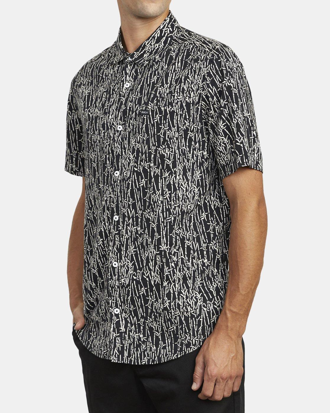 4 Jungle Fuzz - Short Sleeve Shirt for Men Black U1SHRCRVF0 RVCA