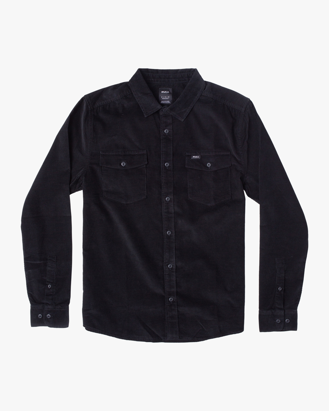 0 Freeman - Long Sleeve Shirt for Men Black U1SHRQRVF0 RVCA
