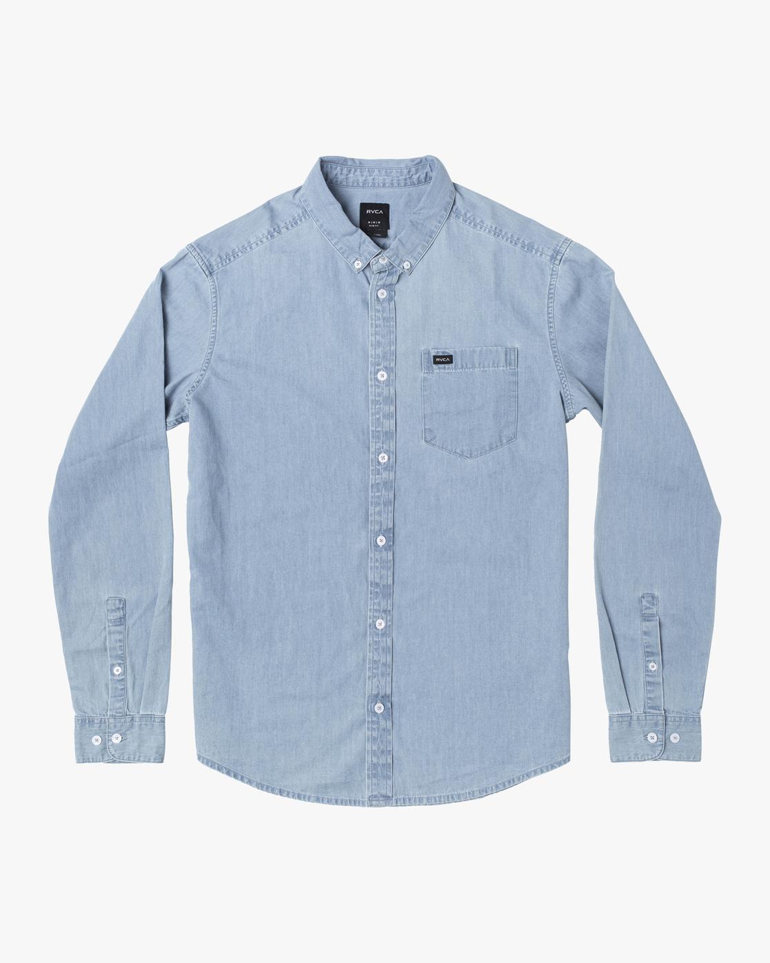 0 Hastings - Long Sleeve Shirt for Men Blue U1SHRRRVF0 RVCA