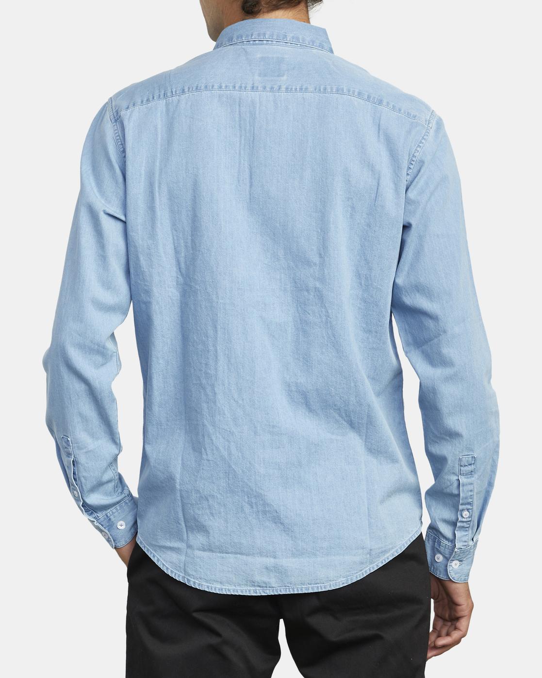 3 Hastings - Long Sleeve Shirt for Men Blue U1SHRRRVF0 RVCA
