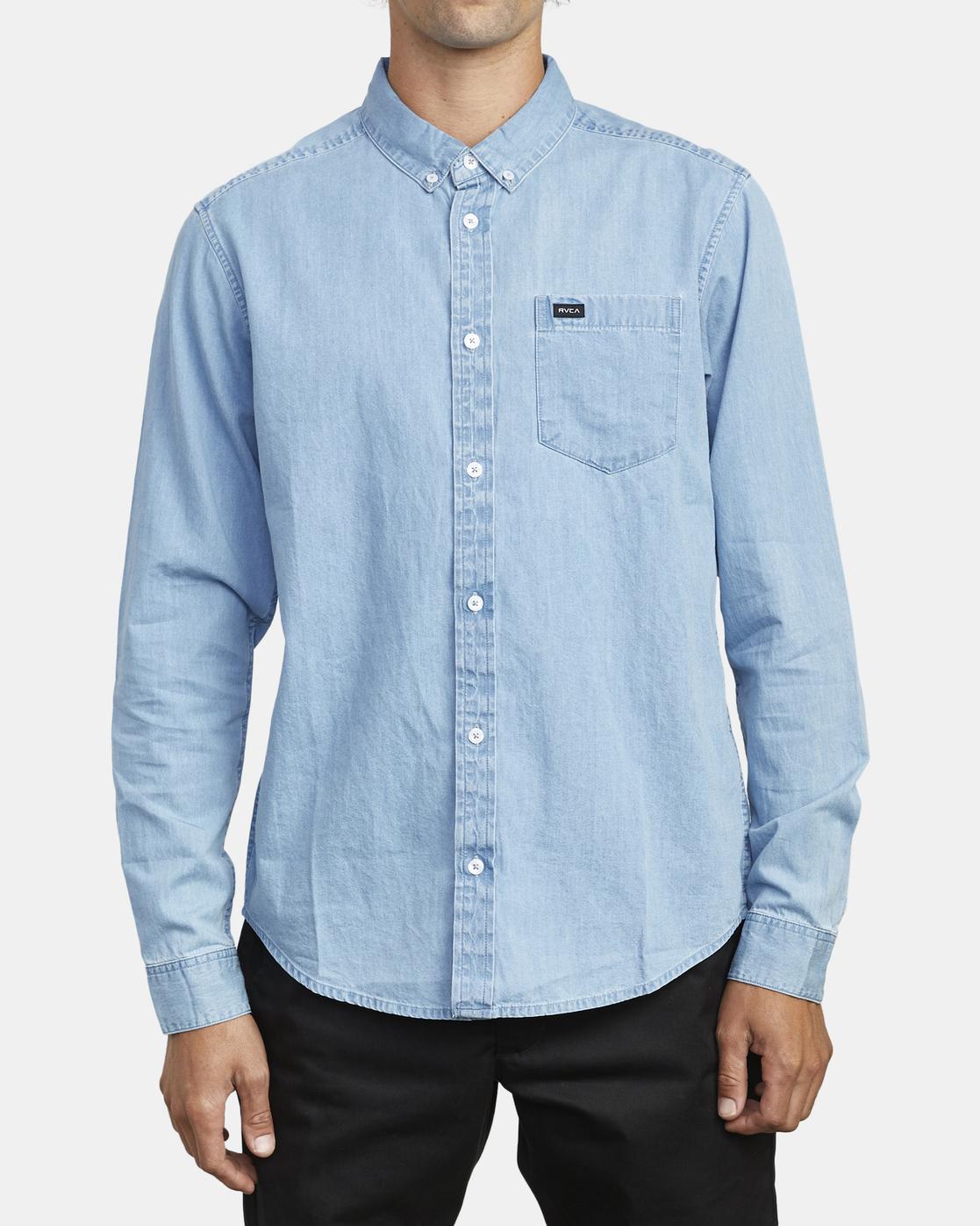 2 Hastings - Long Sleeve Shirt for Men Blue U1SHRRRVF0 RVCA