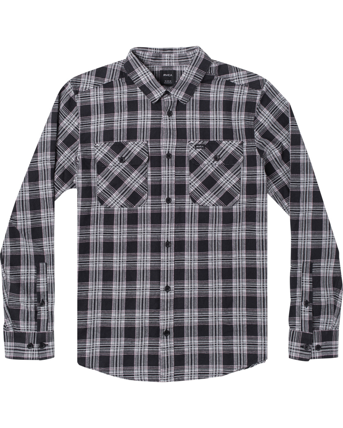 0 Thatll Work Flannel - Long Sleeve Flannel Shirt for Men Black U1SHRSRVF0 RVCA