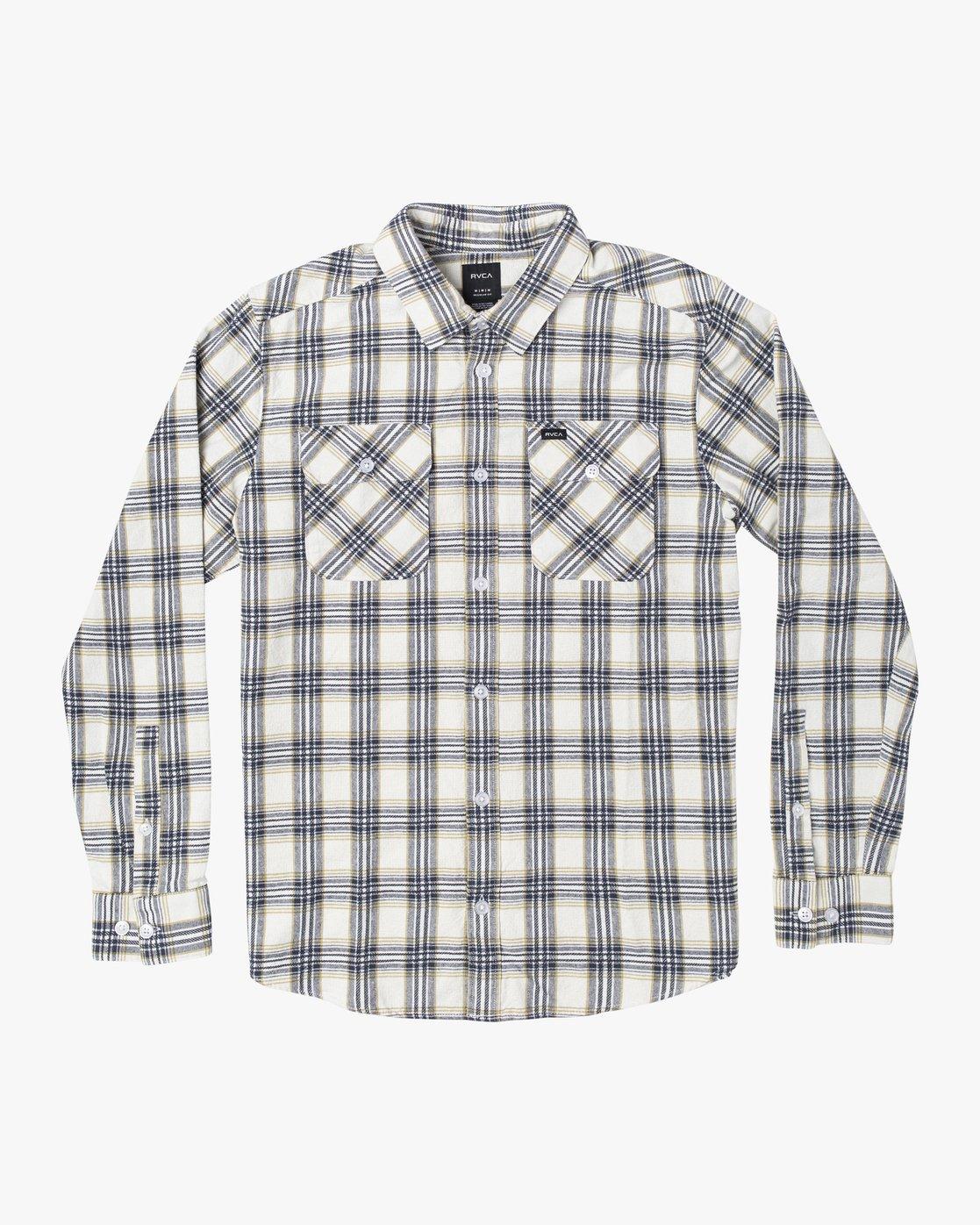 1 Thatll Work Flannel - Long Sleeve Flannel Shirt for Men White U1SHRSRVF0 RVCA