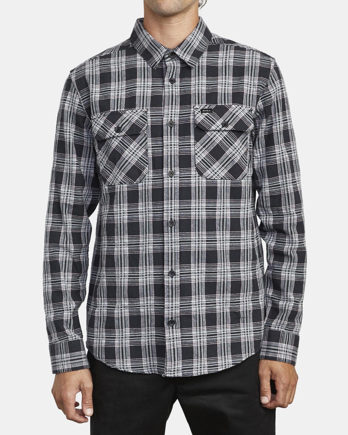 1 Thatll Work Flannel - Long Sleeve Flannel Shirt for Men Black U1SHRSRVF0 RVCA