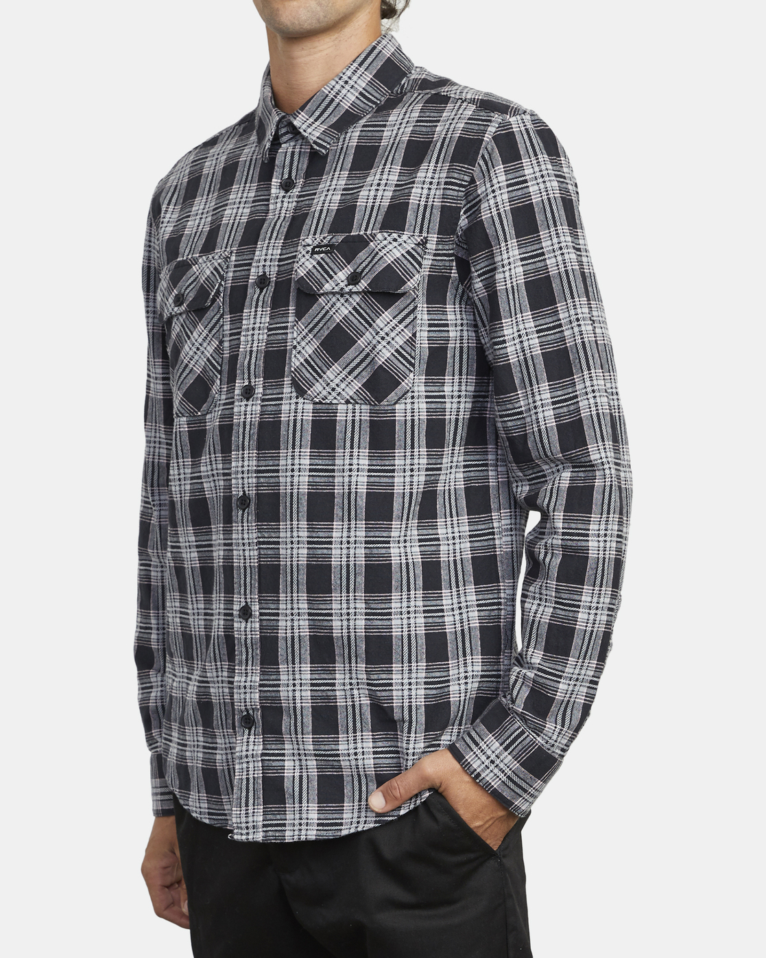3 Thatll Work Flannel - Long Sleeve Flannel Shirt for Men Black U1SHRSRVF0 RVCA