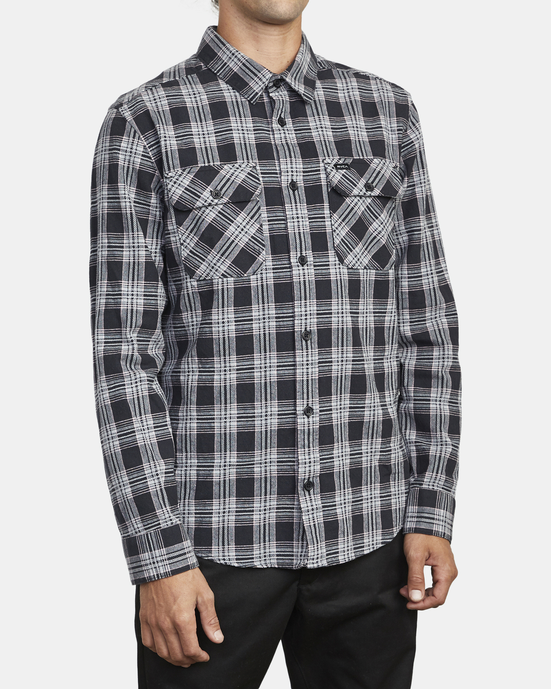 4 Thatll Work Flannel - Long Sleeve Flannel Shirt for Men Black U1SHRSRVF0 RVCA