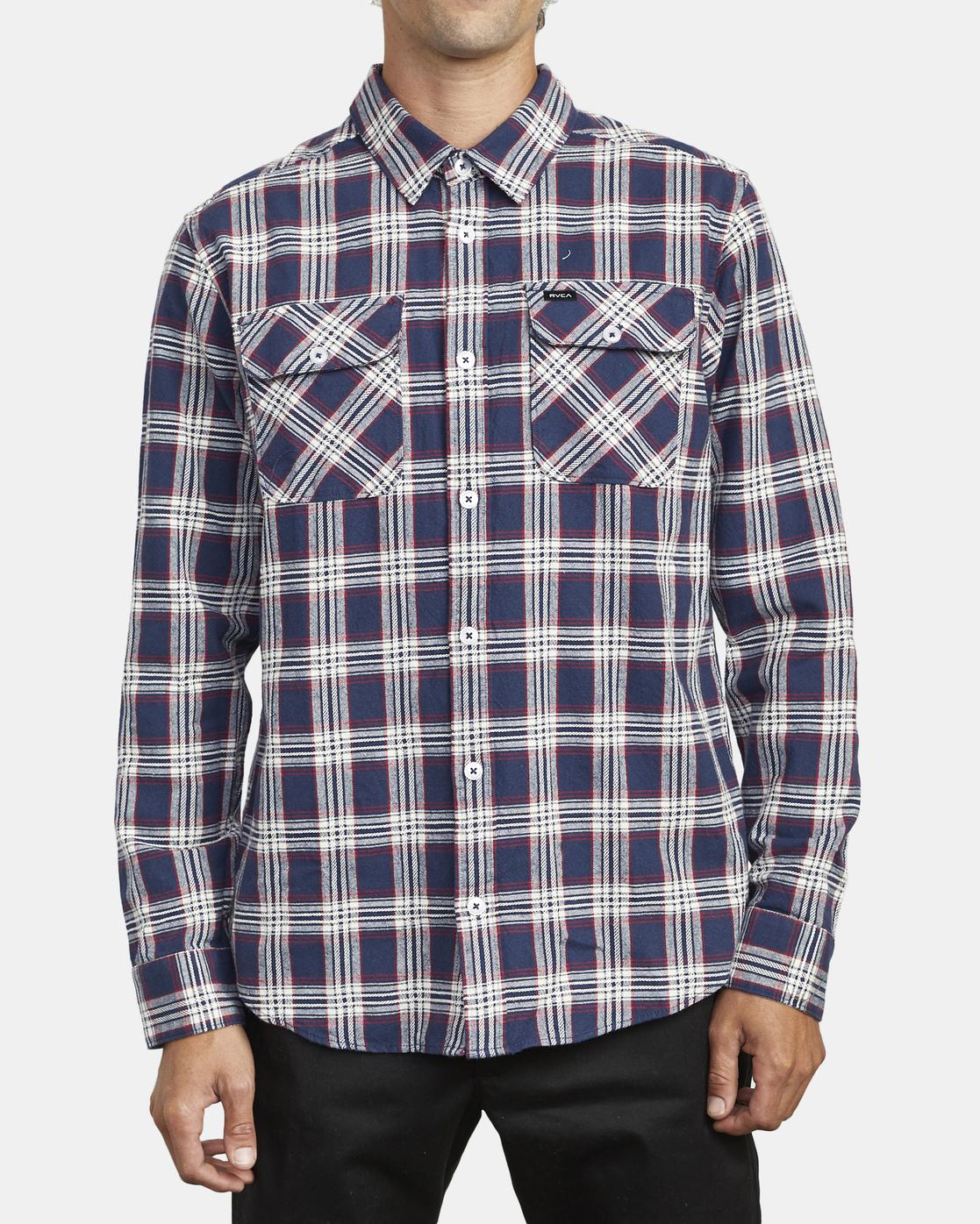 1 Thatll Work Flannel - Long Sleeve Flannel Shirt for Men  U1SHRSRVF0 RVCA