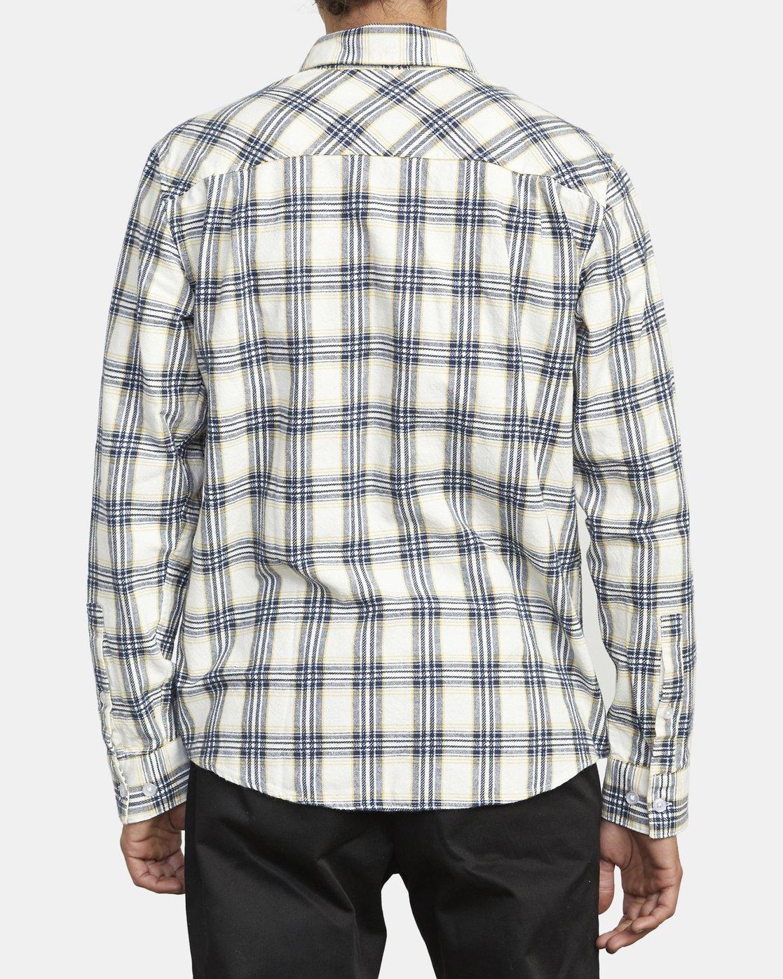 3 Thatll Work Flannel - Long Sleeve Flannel Shirt for Men White U1SHRSRVF0 RVCA