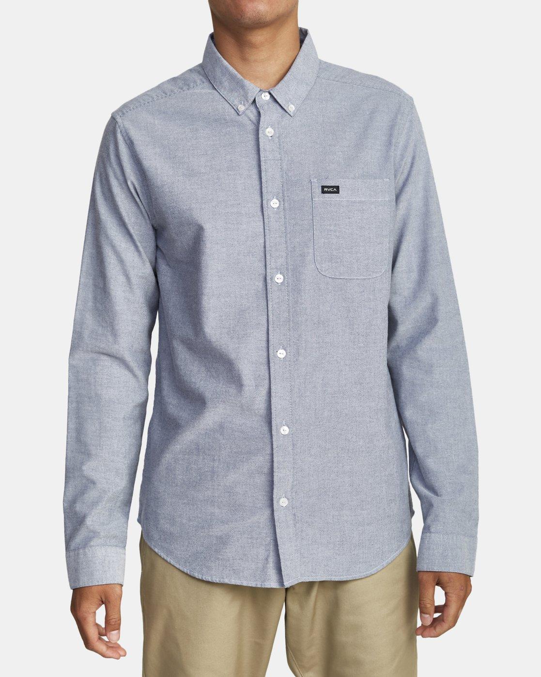 1 Thatll Do Stretch - Long Sleeve Shirt for Men Blue U1SHRTRVF0 RVCA