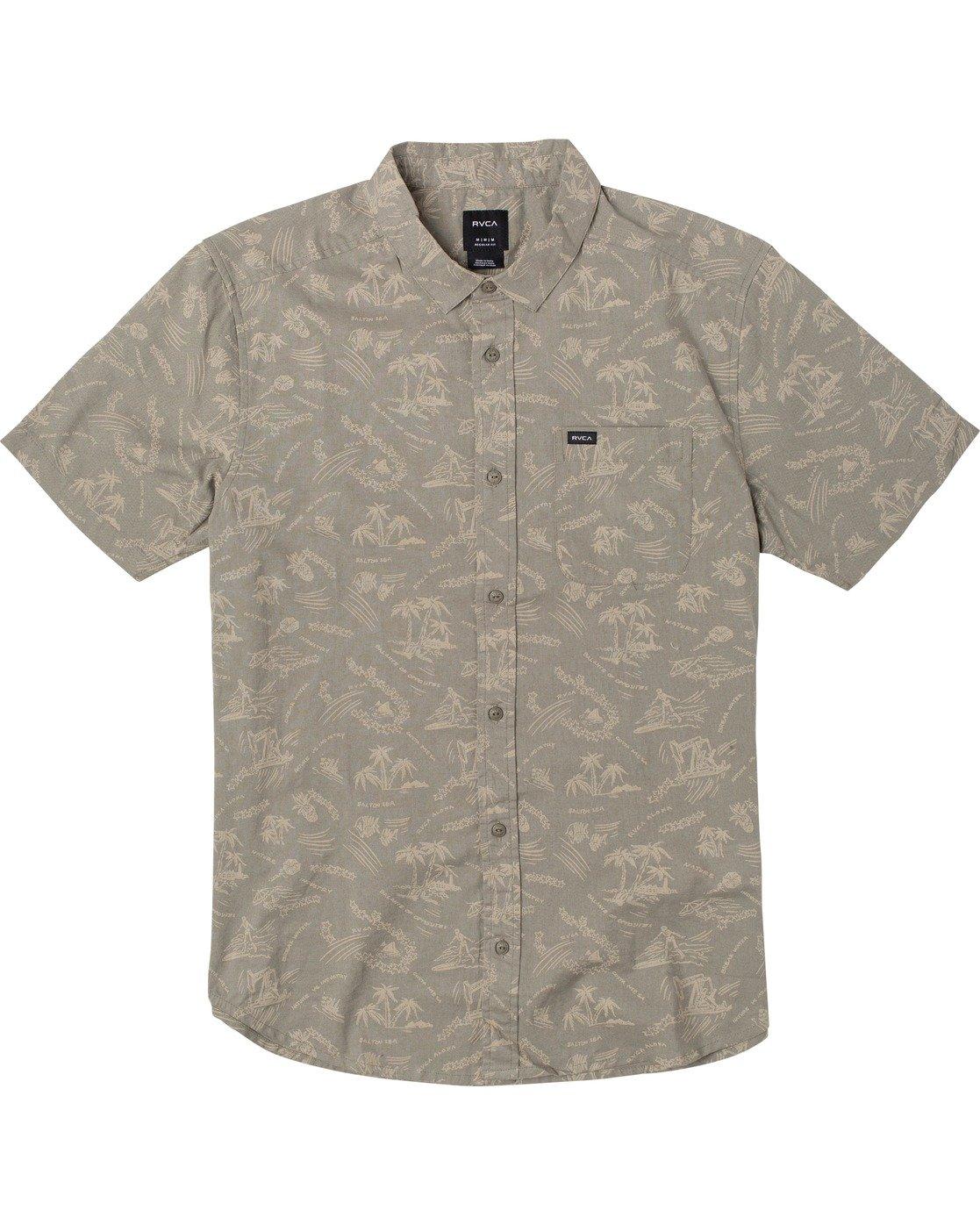 0 Tropical Disaster - Short Sleeve Shirt for Men  U1SHRVRVF0 RVCA