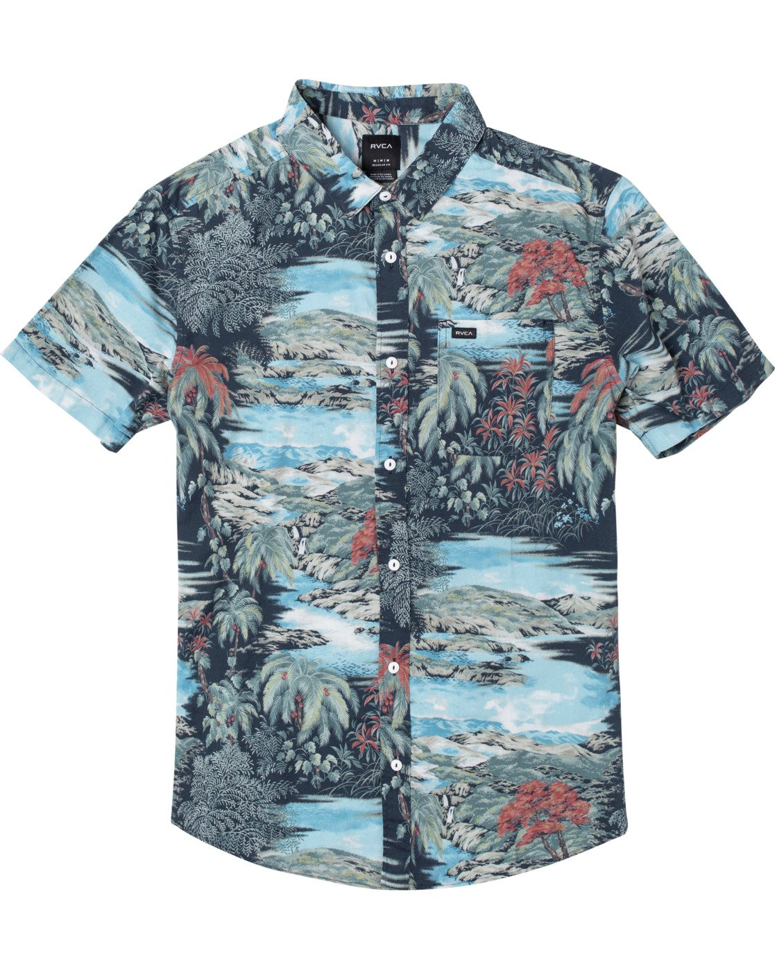 0 Paradiso Floral - Short Sleeve Shirt for Men  U1SHRXRVF0 RVCA