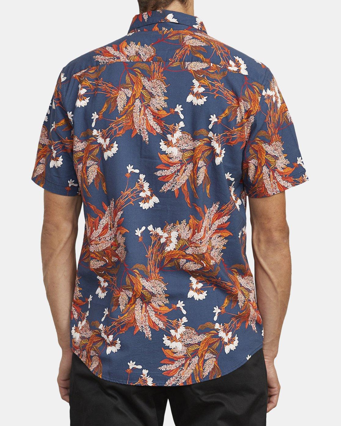 3 Paradiso Floral - Short Sleeve Shirt for Men Blue U1SHRXRVF0 RVCA