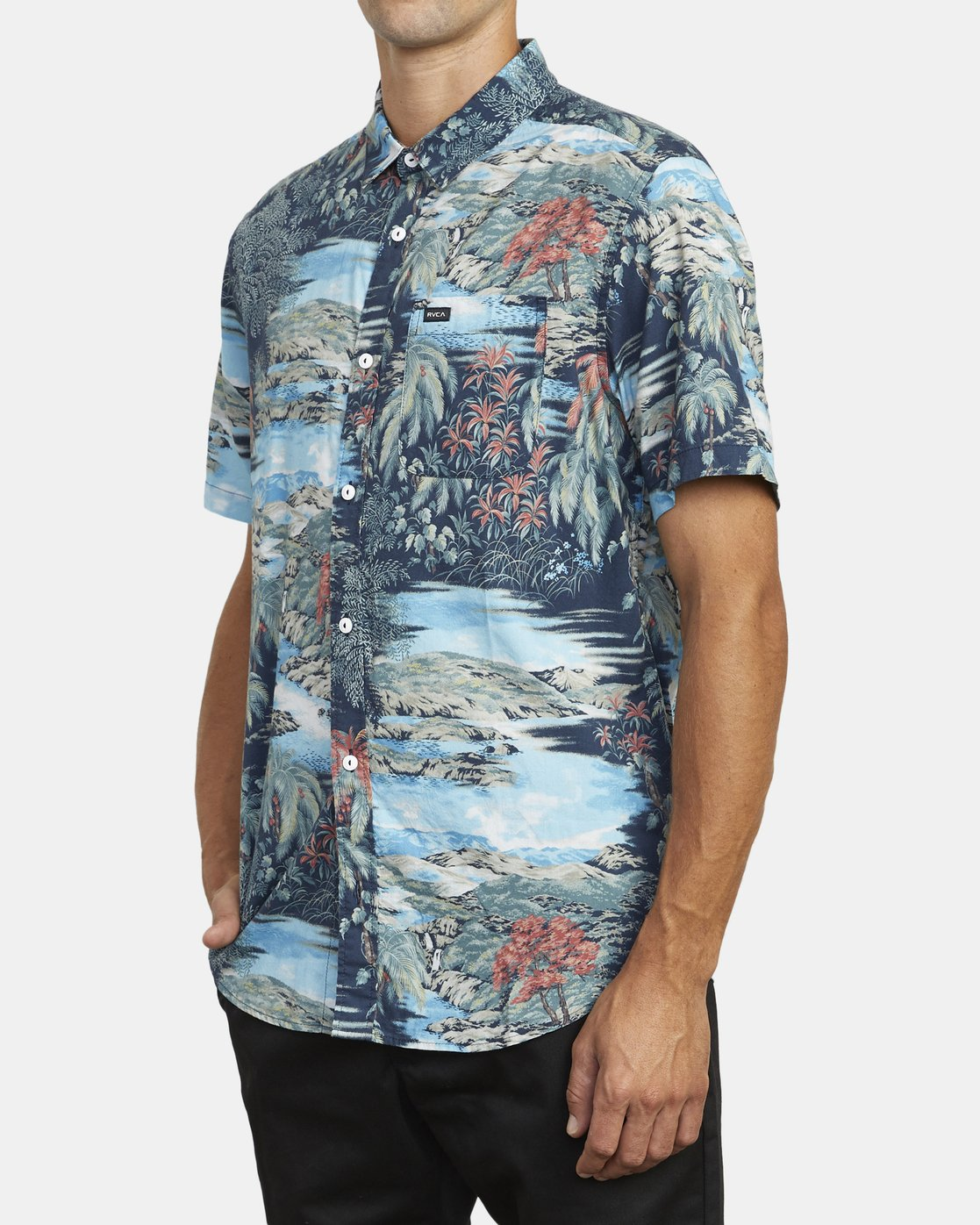 4 Paradiso Floral - Short Sleeve Shirt for Men  U1SHRXRVF0 RVCA