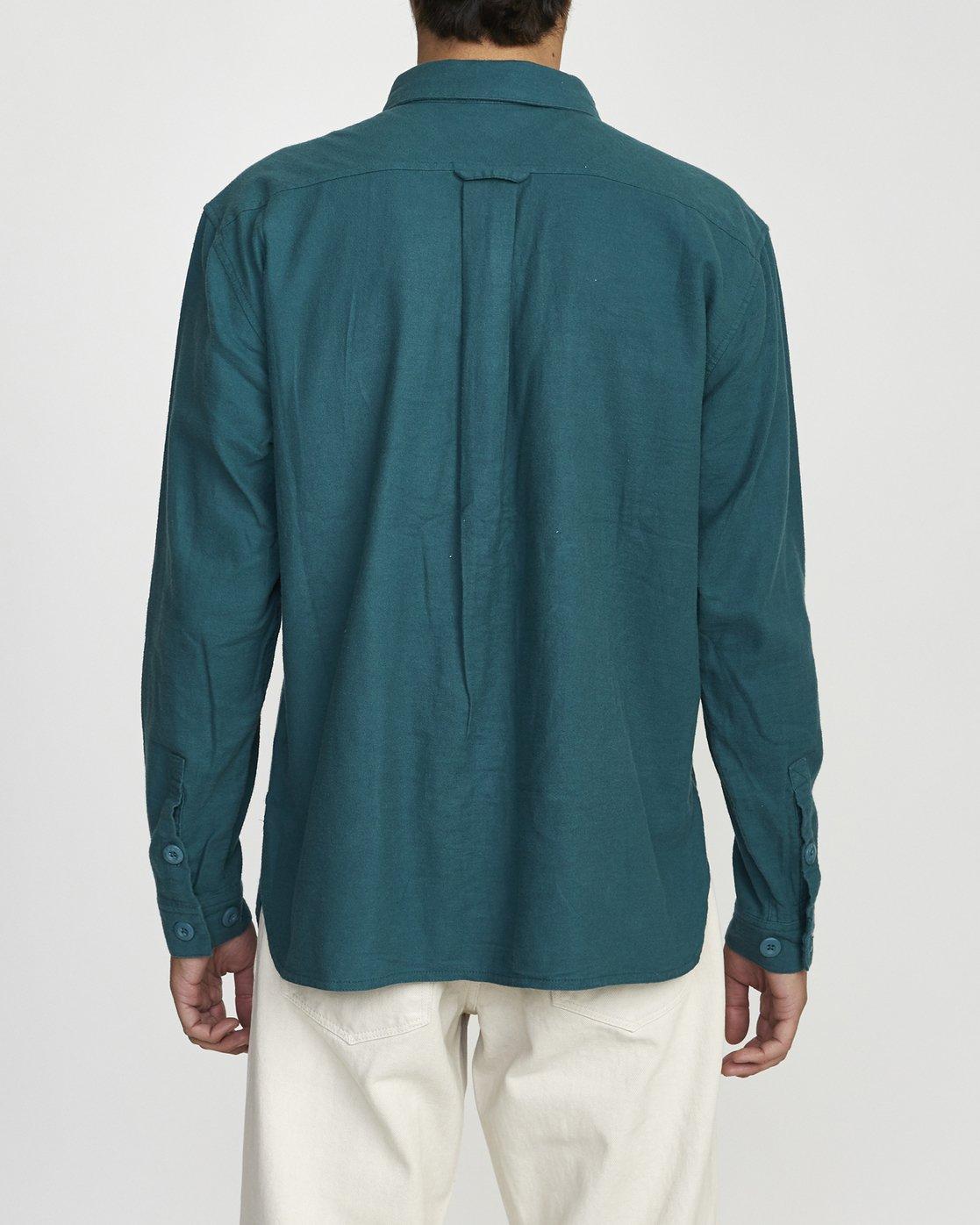 2 Baker RVCA - Long Sleeve Flannel Shirt for Men Green U1SHVBRVF0 RVCA