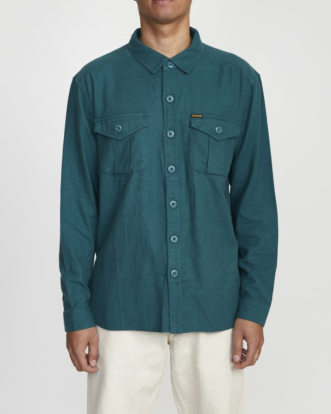 1 Baker RVCA - Long Sleeve Flannel Shirt for Men Green U1SHVBRVF0 RVCA