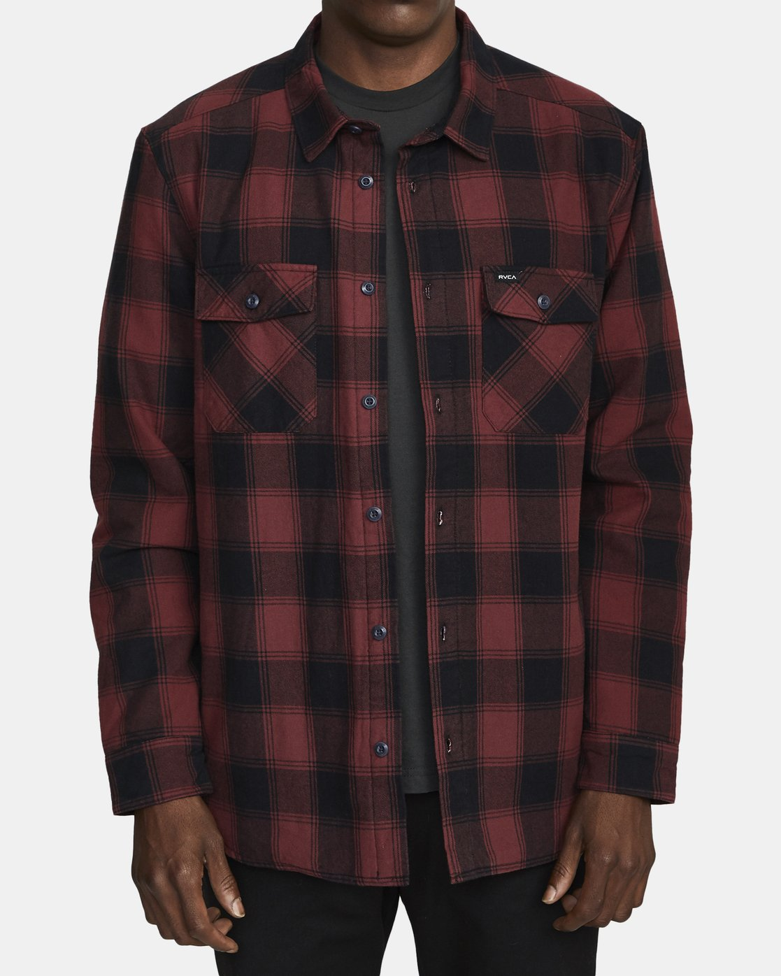 1 Replacement# - Flannel Shirt for Men Red U1SHVCRVF0 RVCA