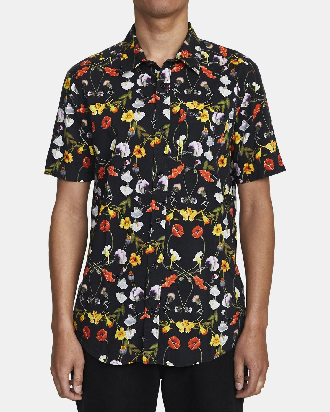 1 Velia Floral - Short Sleeve Shirt for Men  U1SHVDRVF0 RVCA