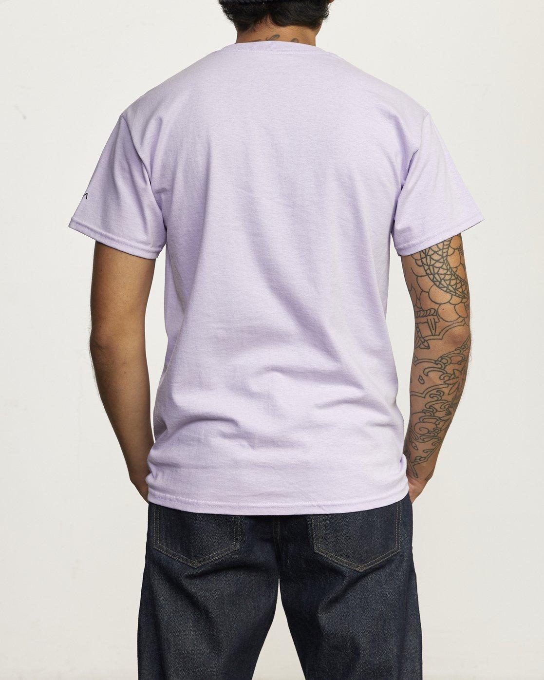 2 RVCA Destroy Racism - T-shirt pour Homme Violet U1SSBCRVMU RVCA