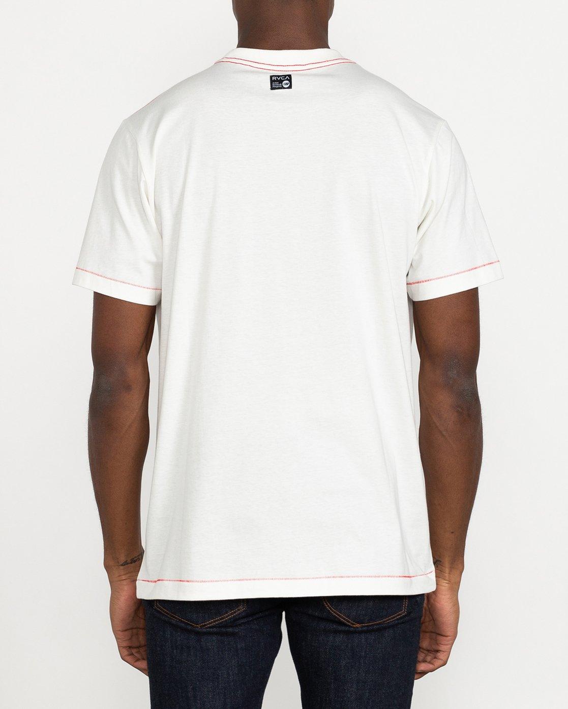 3 Stacey Rozich Bone - T-shirt pour Homme Blanc U1SSRFRVF0 RVCA