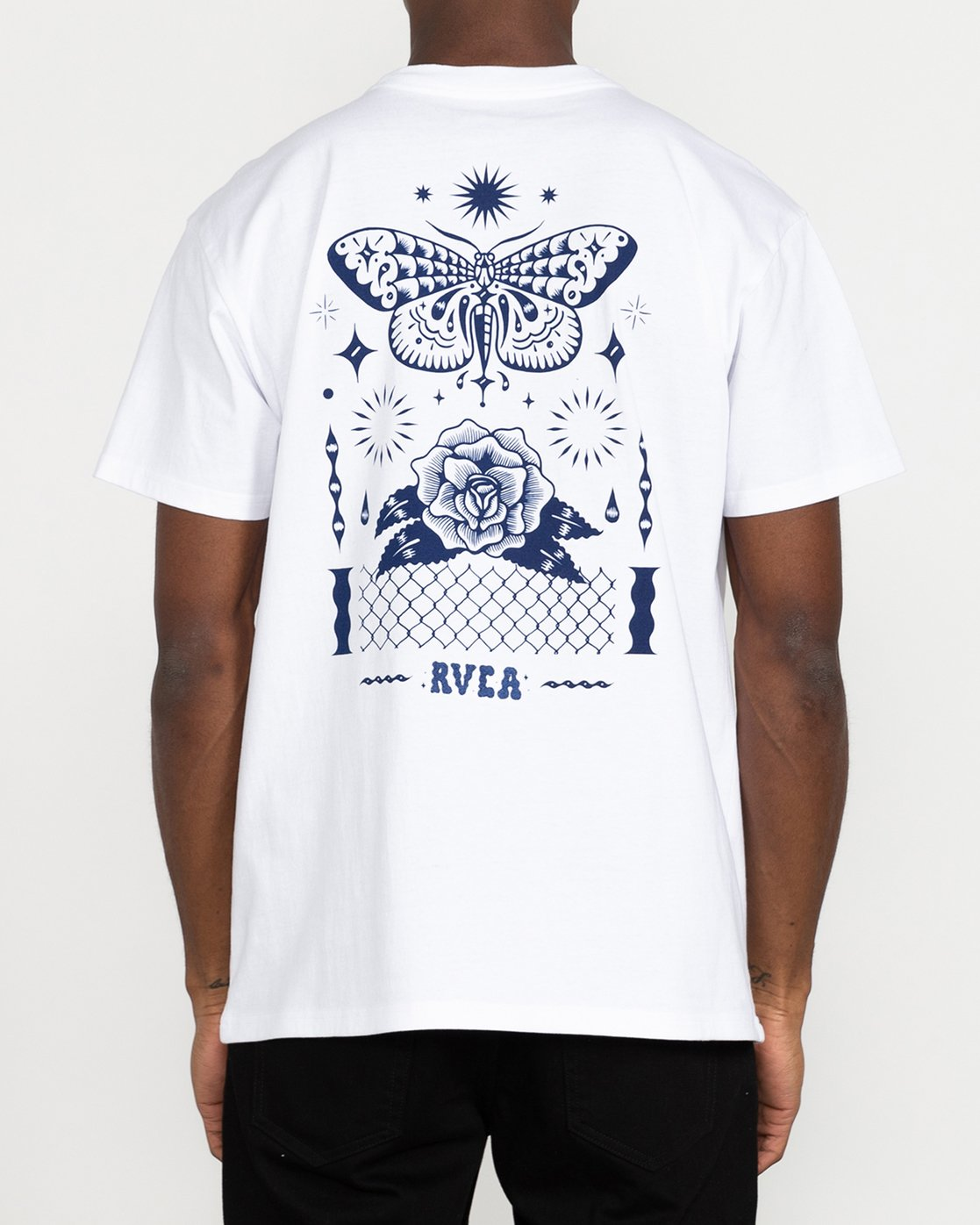3 Jesse Brown Fauna - T-Shirt for Men White U1SSRIRVF0 RVCA