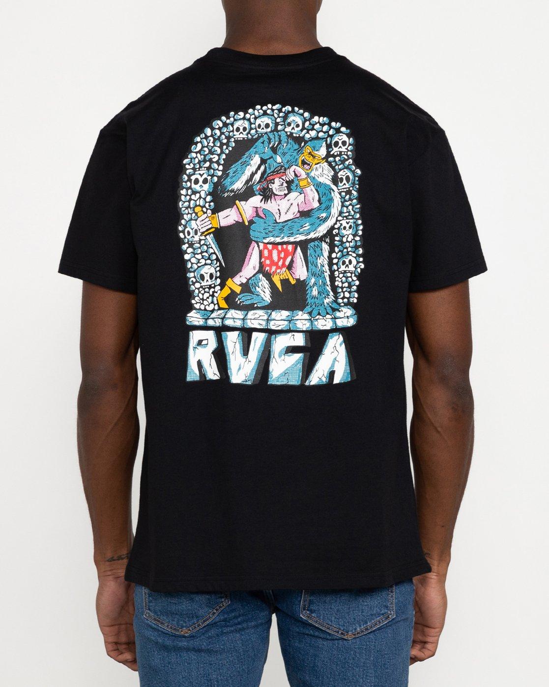 7 Grant Kratzer Barbarian - T-Shirt for Men Black U1SSRLRVF0 RVCA