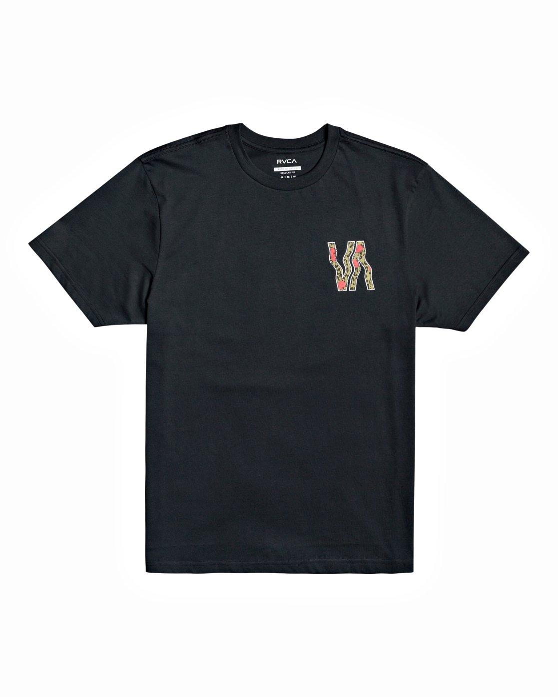 1 VA Vapor - T-Shirt for Men Black U1SSRURVF0 RVCA