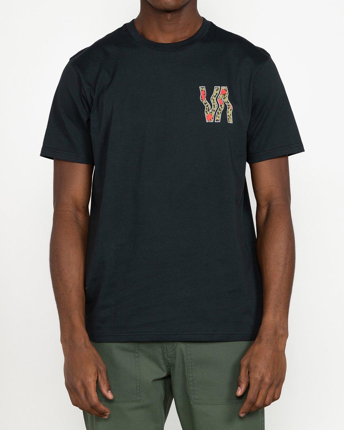 2 VA Vapor - T-Shirt for Men Black U1SSRURVF0 RVCA