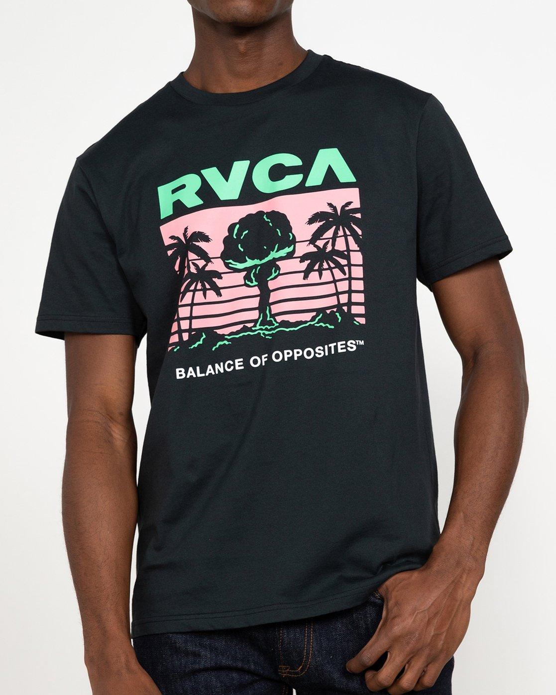 2 Nuclear Paradise - T-Shirt for Men Black U1SSSGRVF0 RVCA
