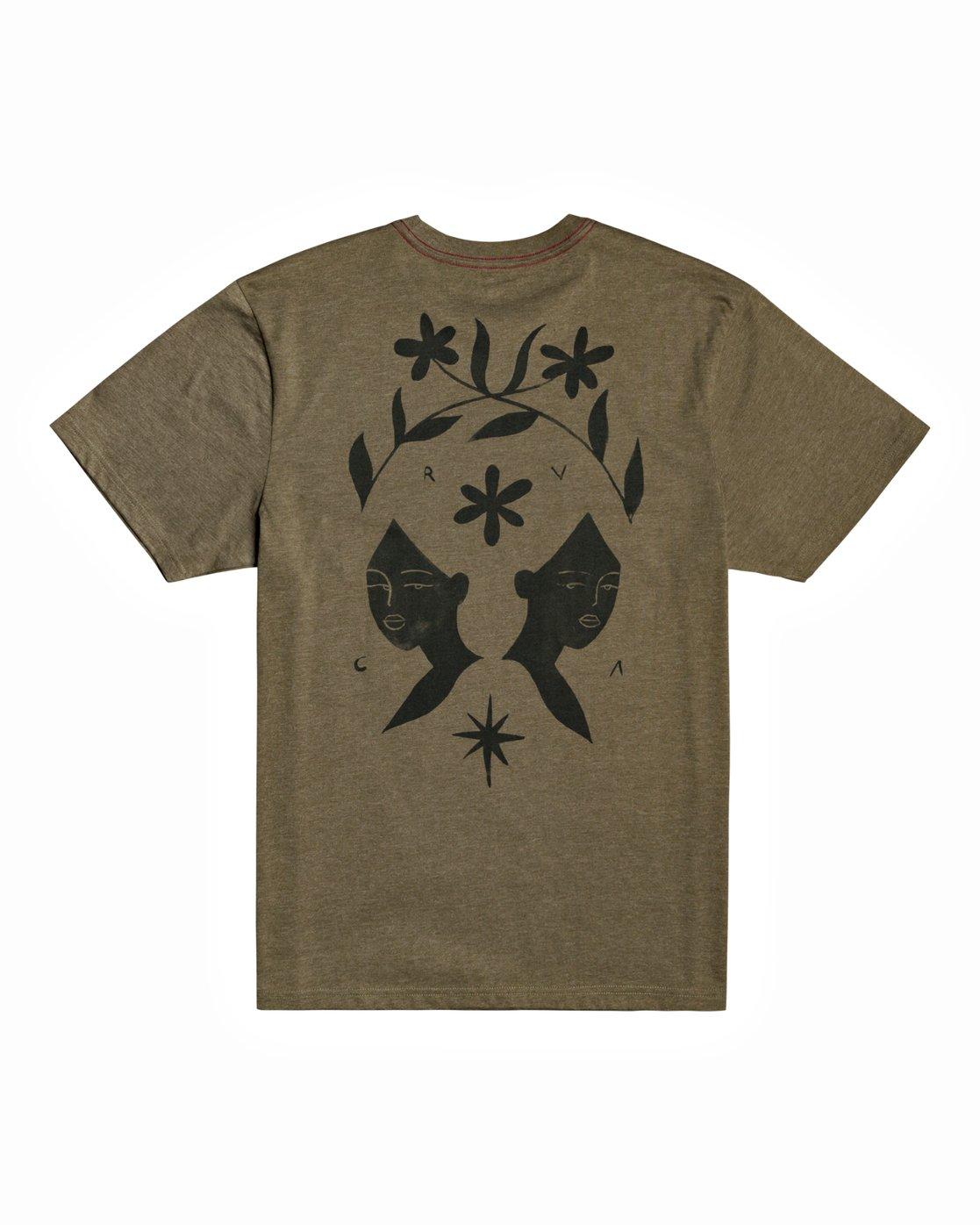 0 Johanna Olk - T-Shirt for Men Green U1SSSMRVF0 RVCA