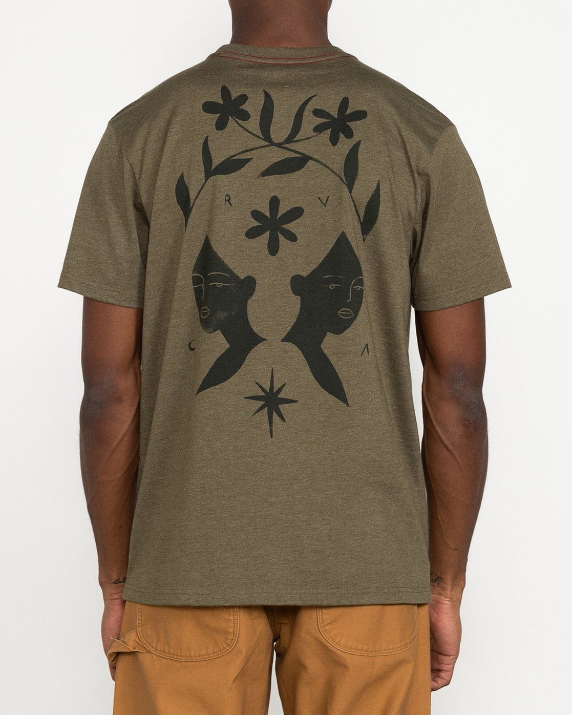 3 Johanna Olk - T-Shirt for Men Green U1SSSMRVF0 RVCA