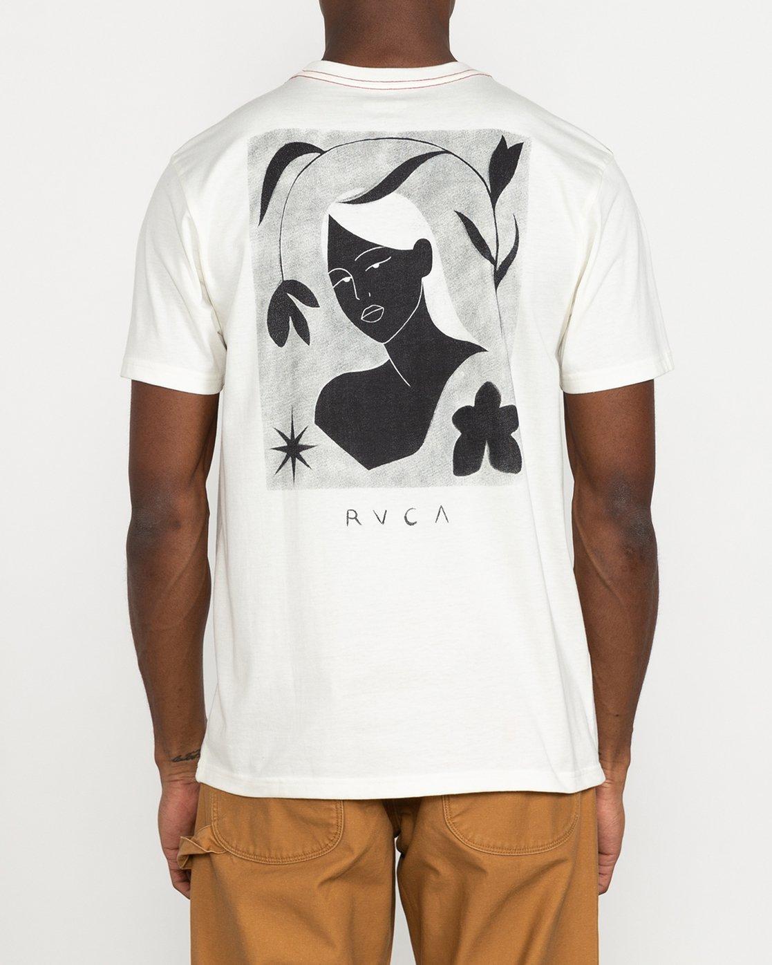 3 Johanna Olk - T-shirt pour Homme Blanc U1SSSMRVF0 RVCA