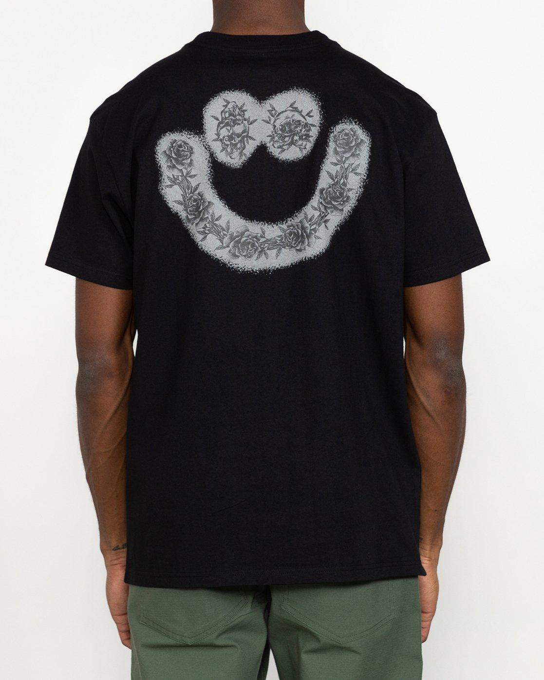7 Benjamin JeanJean Skulls And Roses - T-Shirt for Men Black U1SSSSRVF0 RVCA