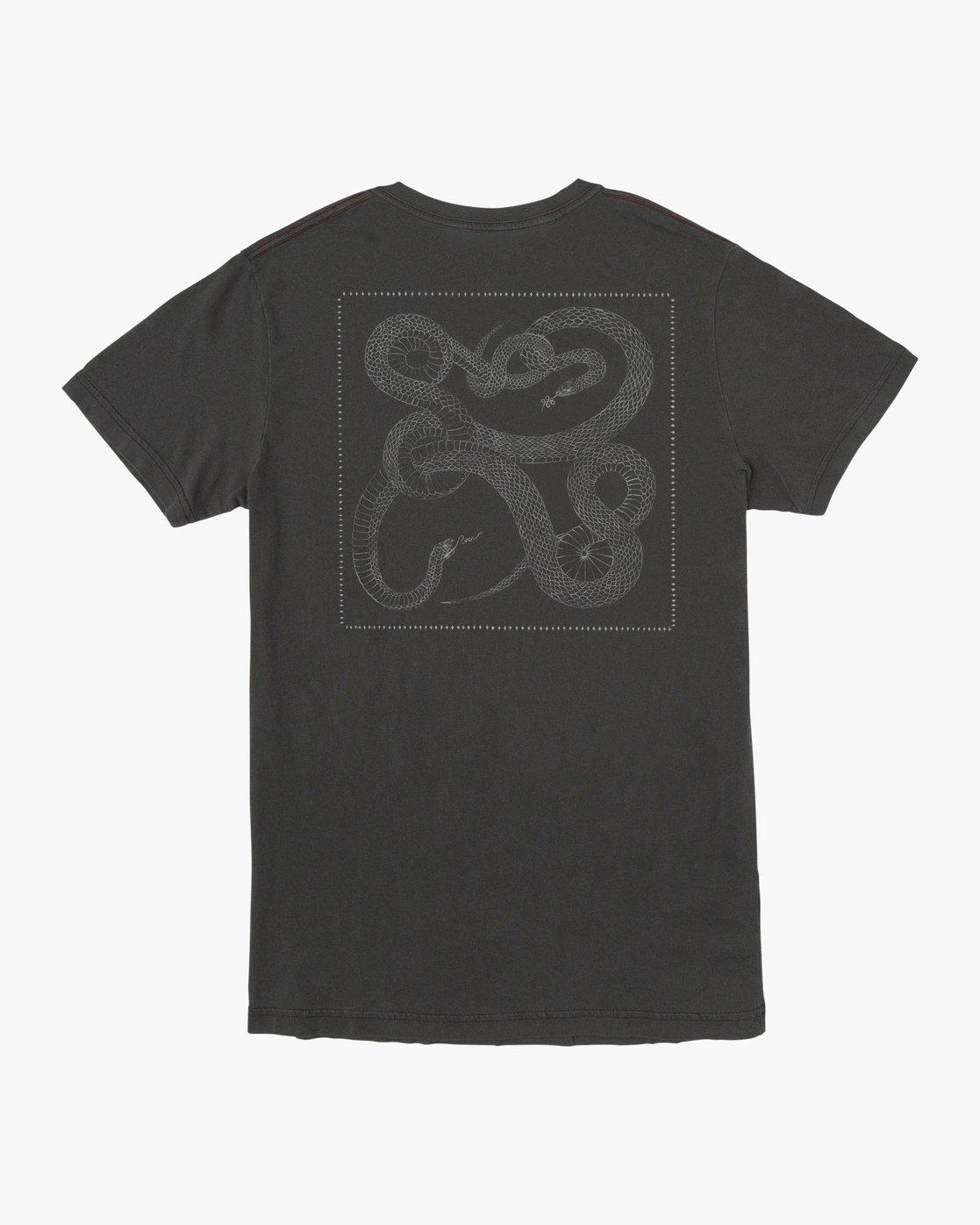 3 Bull Snake - T-Shirt for Men Black U1SSVDRVF0 RVCA