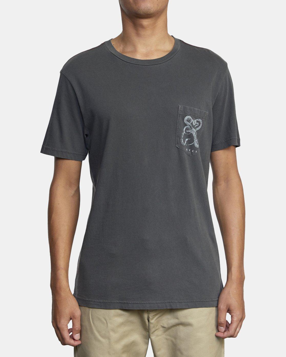4 Bull Snake - T-shirt pour Homme Noir U1SSVDRVF0 RVCA