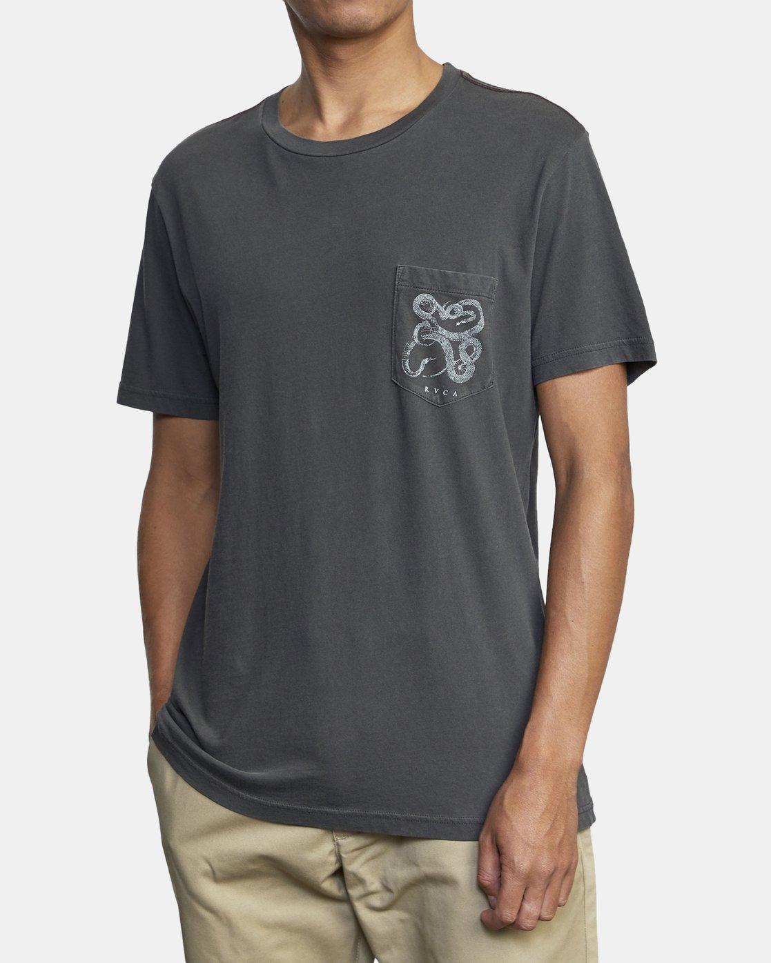 6 Bull Snake - T-shirt pour Homme Noir U1SSVDRVF0 RVCA