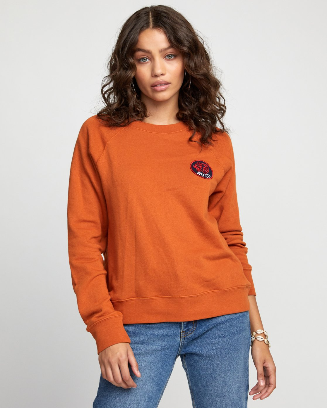 0 Dynasty - Sweatshirt for Women Orange U3CRRCRVF0 RVCA