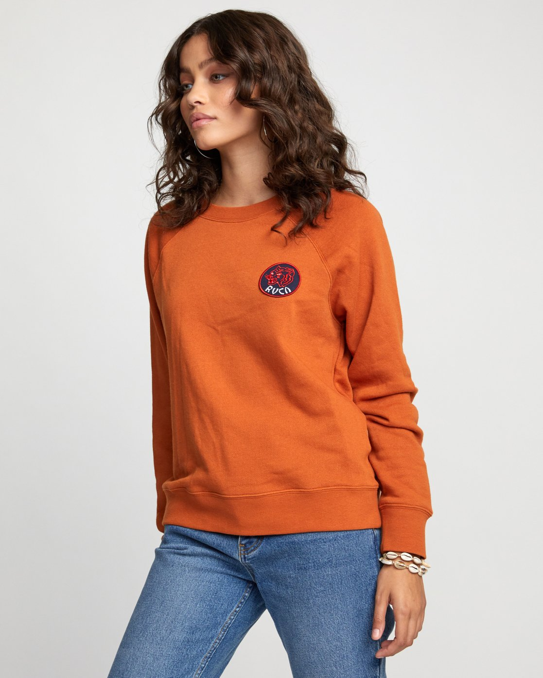 3 Dynasty - Sweatshirt for Women Orange U3CRRCRVF0 RVCA