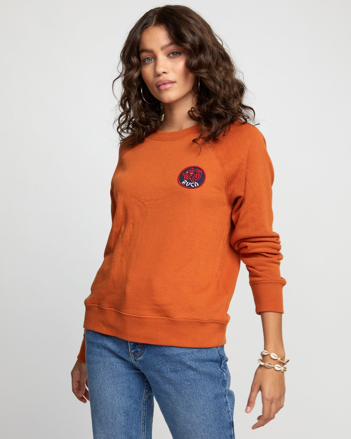4 Dynasty - Sweatshirt for Women Orange U3CRRCRVF0 RVCA