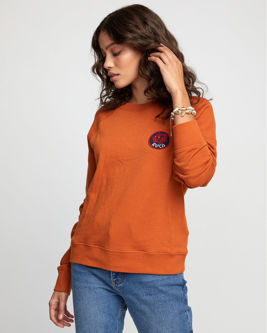 5 Dynasty - Sweatshirt for Women Orange U3CRRCRVF0 RVCA