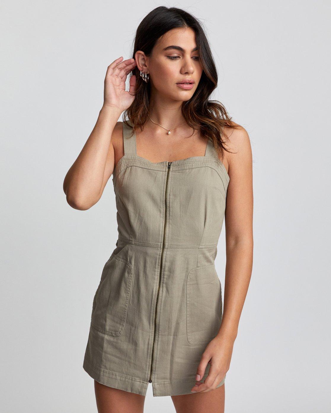 0 Emery - Dress for Women Green U3DRRIRVF0 RVCA