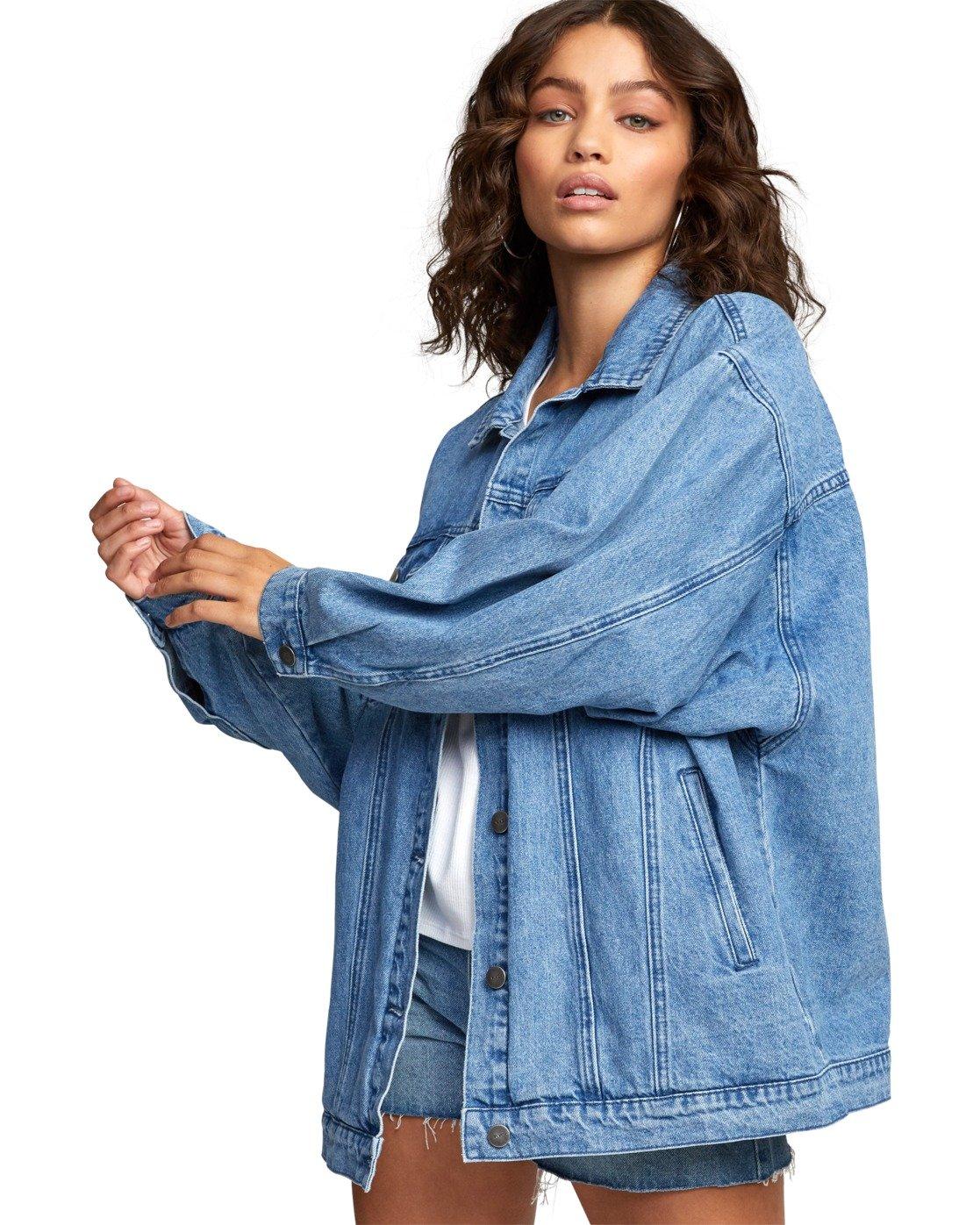 7 Stacey Rozich Lounger Denim - Veste en jean pour Femme Bleu U3JKRARVF0 RVCA
